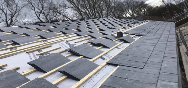 Quality new slate roof installation in Warrington